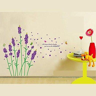 Createforlife ® Cartoon Purple Lavender Kids lastenhoitohuone Wall Sticker Wall Art Decals – EUR € 14.38