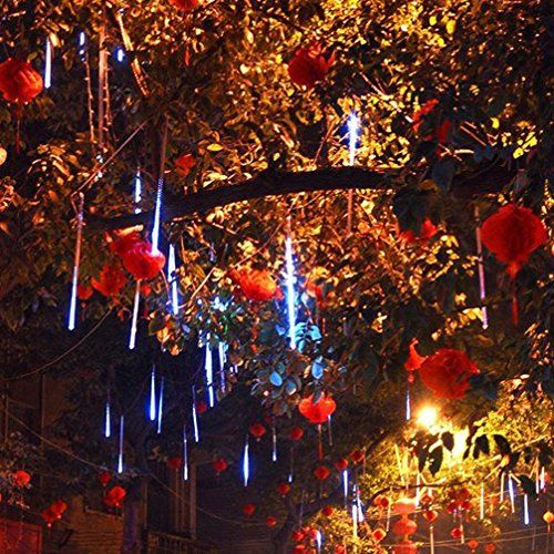 The LED rope lights emulate falling snow in the night sky.Each bulb turns on and out one by one in sequence and quickly.Meteor effect and romantic aesthetic High Quality & Energy Efficient: IP65 Waterproof,dustproof,corrosion resistant,more safe and durable.Low power consumption and energy saving Build with a tail plug,the party lights can be used as one and connected one by one(as much as 5 light strings),DIY your own style
