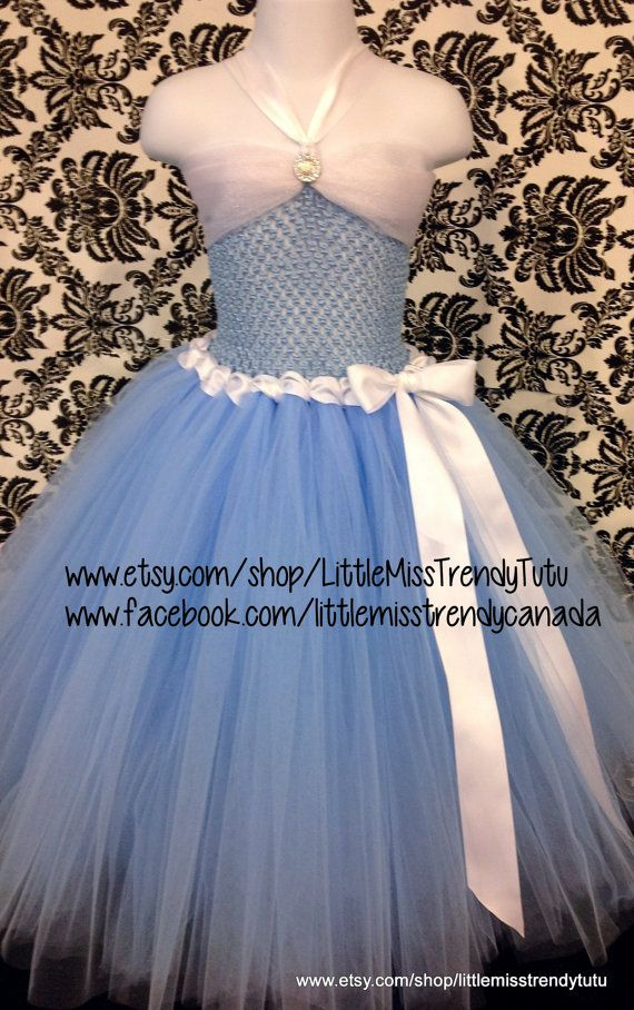Cinderella Inspired Tutu Dress Cinderella by LittleMissTrendyTutu                                                                                                                                                      More