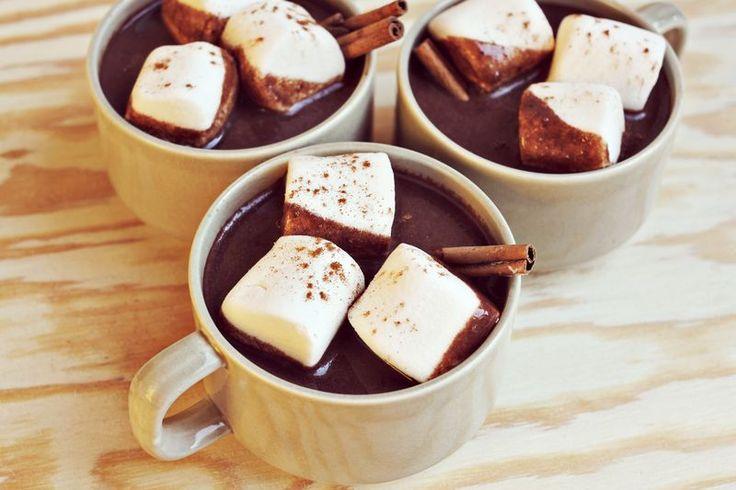 Aztec Hot Chocolate Recipe. 6 cups milk, 10 ounces chopped dark chocolate, 1/4 teaspoon cinnamon, a pinch or two of cayenne (optional) and marshmallows/cinnamon sticks for garnish.