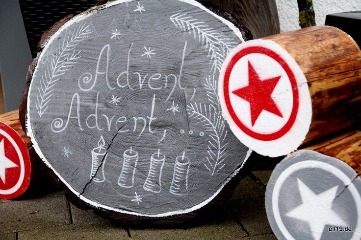 Tafellack Baumscheibe Advent
