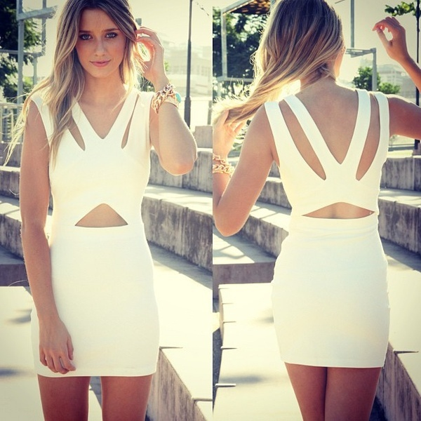 cut out dress: Summer Dresses, New Years Dresses, Cutout, Parties Dresses, Summer Style, The Dresses, Little White Dresses, Cut Outs, Stunning Dresses