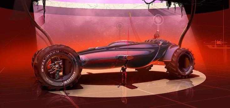 Fantastic automotive design at asphaaalt.                Keywords: rendered in syd mead style graviton concept automobile transportation veh...