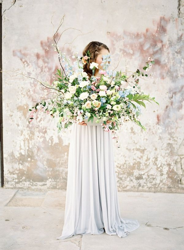 Lush Spring Wedding Centerpiece | Ashley Rae Photography