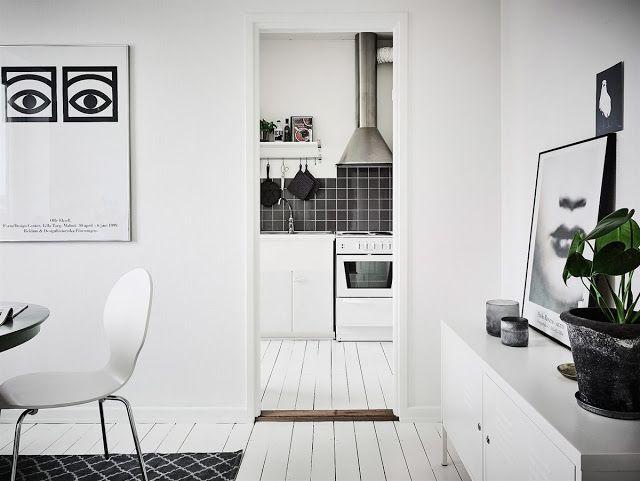 Blog wnętrzarski - design, nowoczesne projekty wnętrz: Aranżacja małej kuchni w bloku