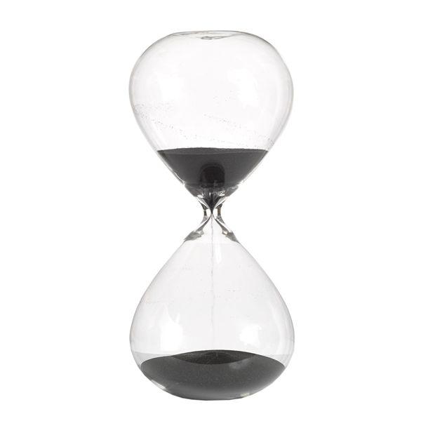 Timglas sand svart timglas