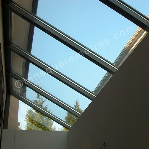 Glass roof like this?