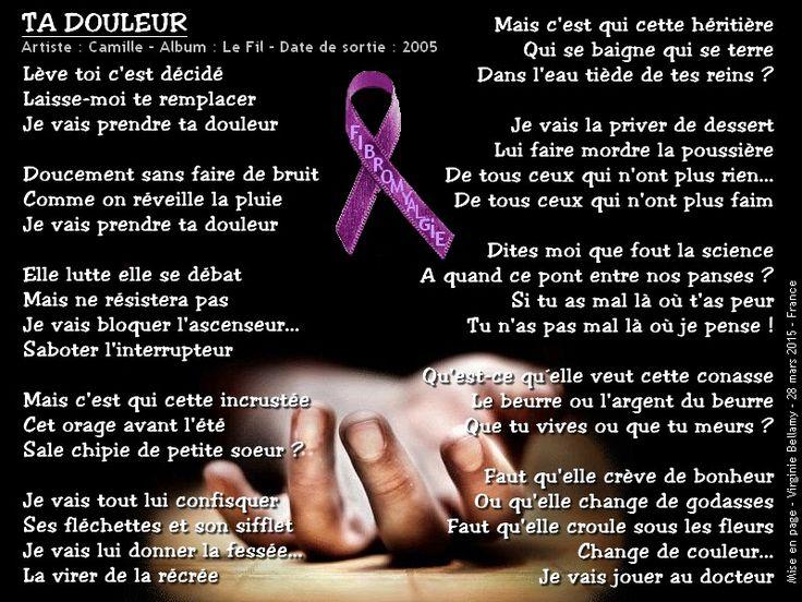 Ta douleur - Camille- paroles - fibromyalgie