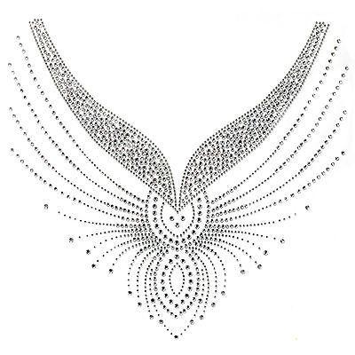 Со стразами Hot мотив кристалл модные дизайн платье декольте арт линия красивый in | eBay