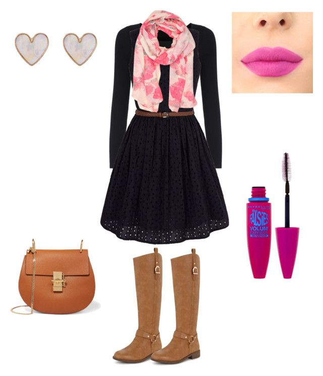 """""""#winter outfit"""" by ncita-willey on Polyvore featuring Yumi, Sakkas, Maybelline, New Look and Chloé"""