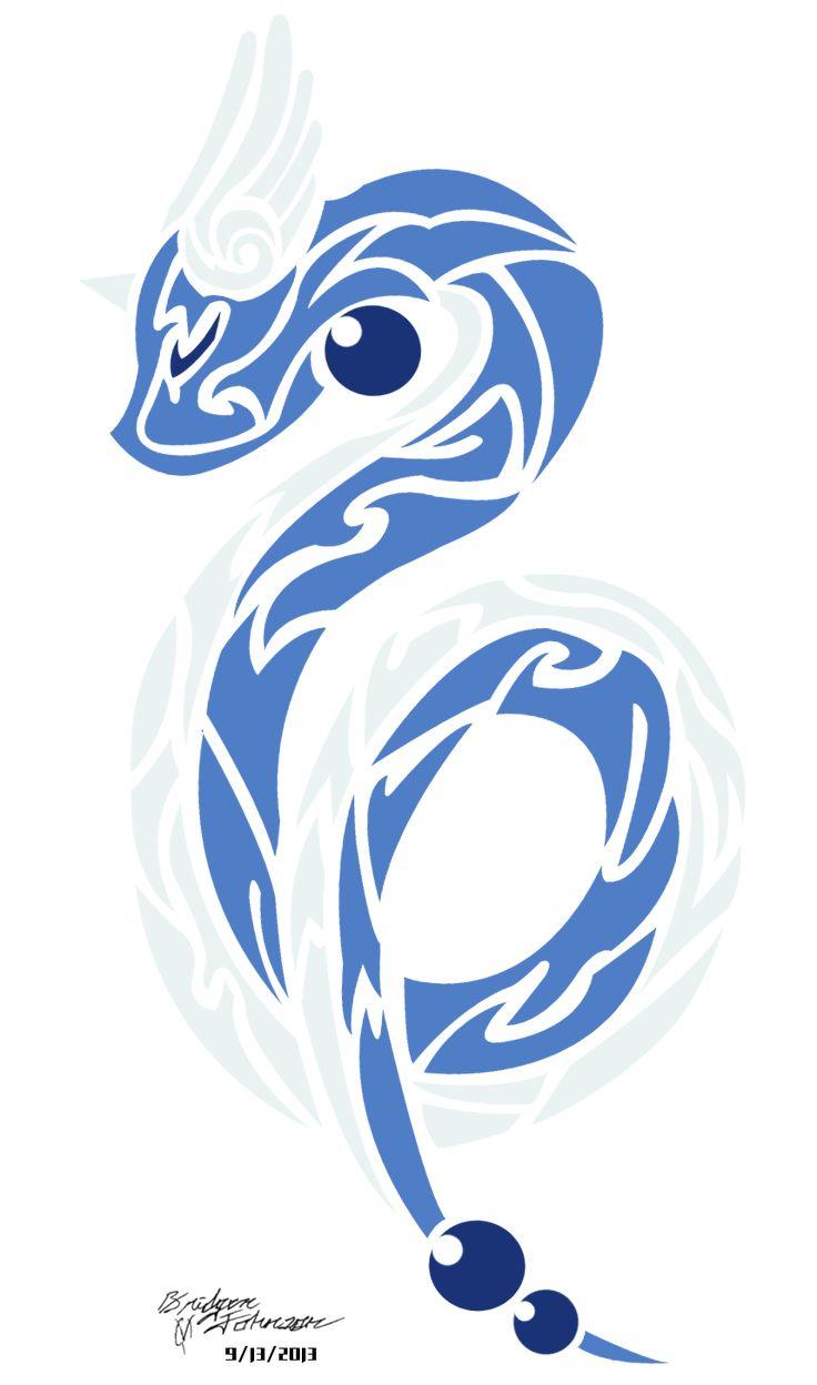 Dragonair Tribal Tattoo Tribal dragonairby pwnisim