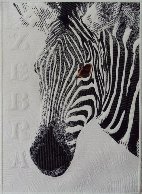 Great new quilt pattern of a zebra available now on my website,  Also available on Craftsy and Etsy