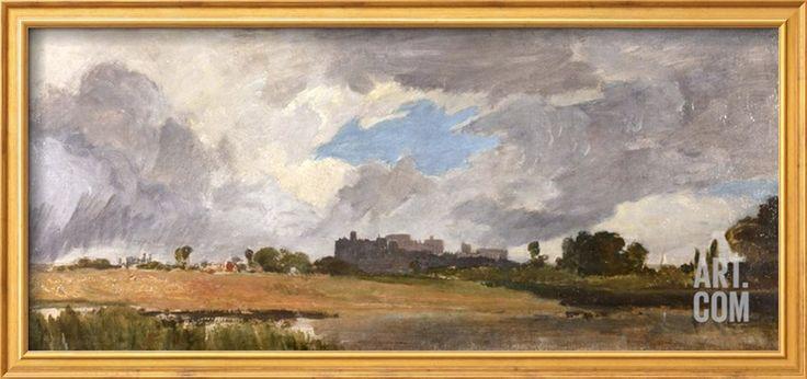Windsor from Lower Hope Art Print by J. M. W. Turner at Art.com