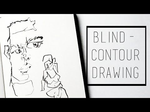 Blind-Contour Drawing FAIL · 30 Ways to Fill a Sketchbook - YouTube