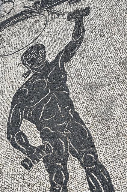 Ostia Antica, ancient Roman harbour mosaic
