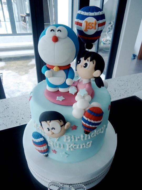 Doraemon Birthday Cake is so sweet~