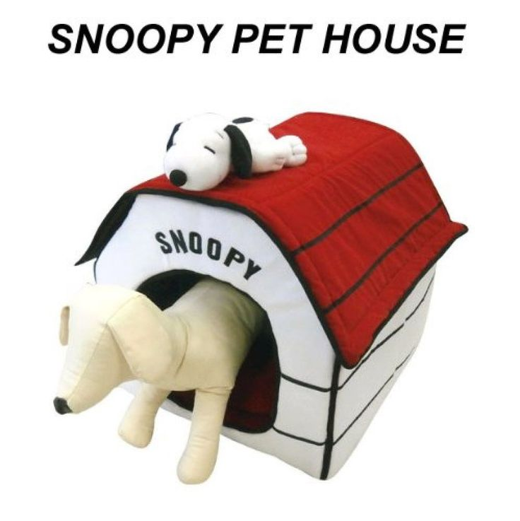 Peanuts Snoopy Indoor Pet Dog Cat Plush Portable Foldable House