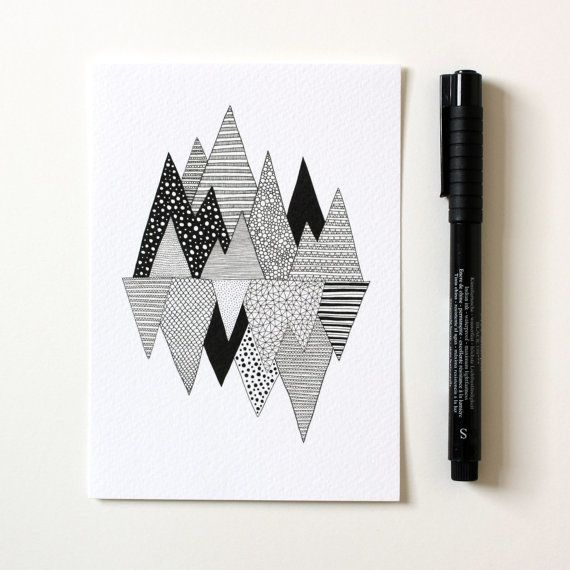 Lost in Mountains / A6 print / Mini art print / by anitaivancenko
