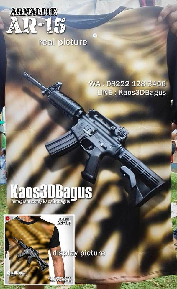 Kaos ARMY, Kaos TENTARA, Kaos MILITER, Kaos AR-15, Armalite 15, Kaos Senapan Otomatis, Kaos Pasukan Elite, Kaos Navy Seal, Kaos Marinir, https://kaos3dbagus.wordpress.com, WA : 08222 128 3456, LINE : Kaos3DBagus