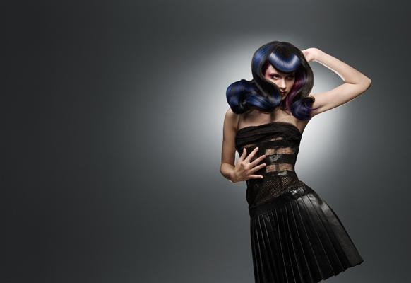 Stunning image of blue hair from Marco Aldany