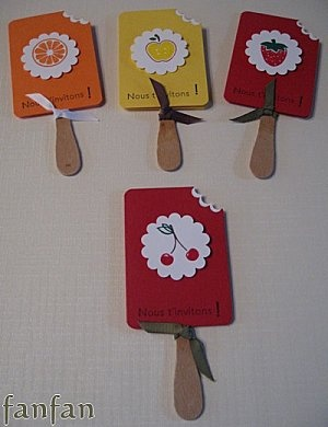 using wooden flat ice cream spoons, make small flat popsicle size personal fans with tag board, heavy coat of glue and spoon for beginning and end of year.