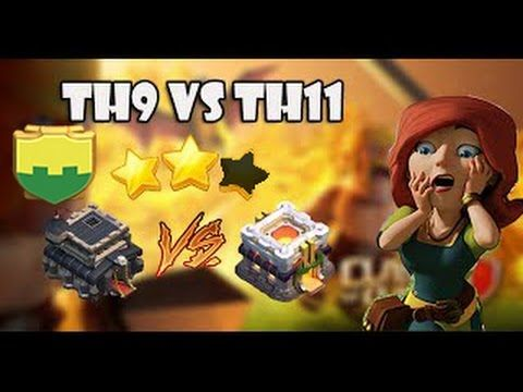 TH9 VS TH11.  2 star attack #Savage 8.9