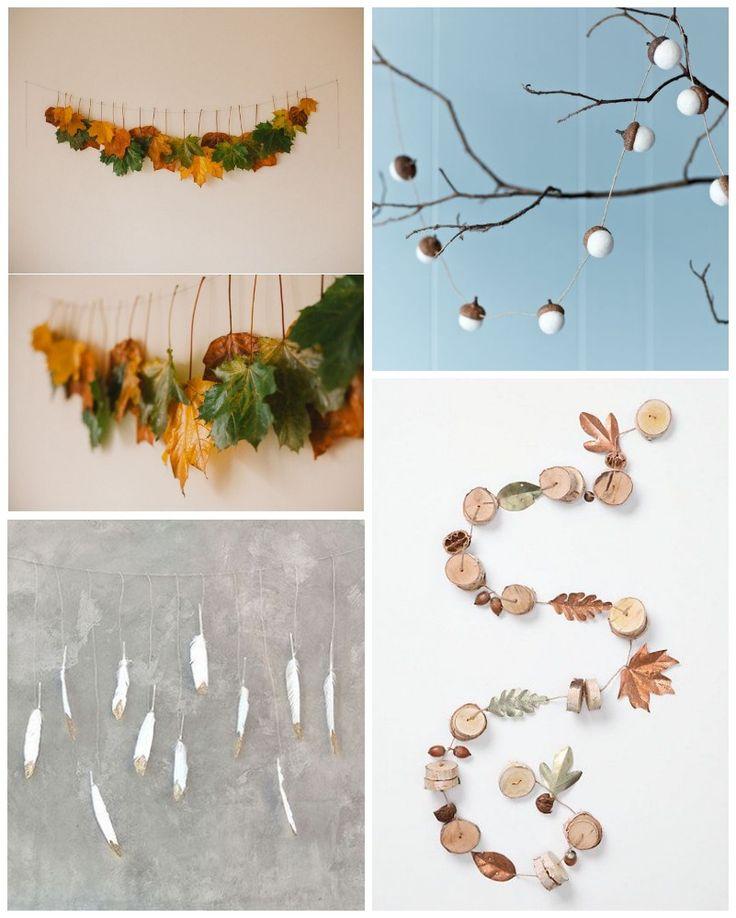 Guirnaldas de otoño para decorar - All Lovely Party