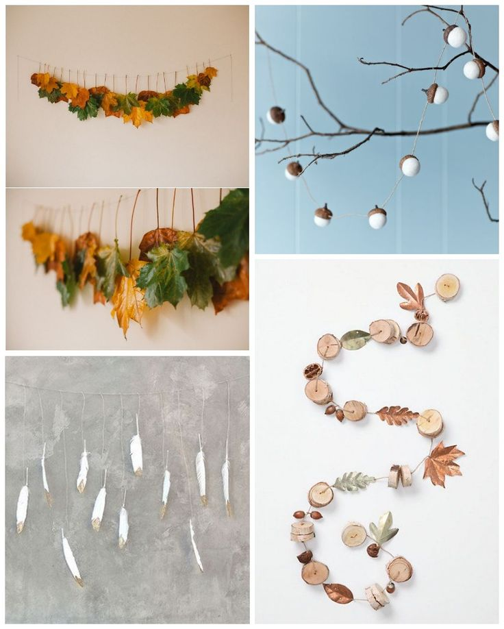 Guirnaldas de otoño para decorar, ¡preciosas todas ellas! by All Lovely Party (@alllovelyparty)
