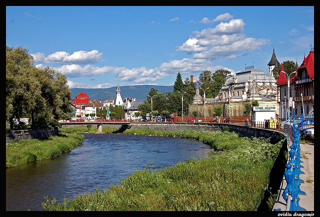 Vatra Dornei -  is famous as a spa town and offers skiing, hiking, a  campsite,etc,There are mineral water springs in the city limits and its surroundings that are very good for health.