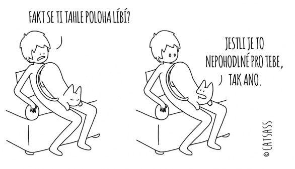 20 trefných kreseb toho, co si ve skutečnosti myslí vaše kočka | g.cz