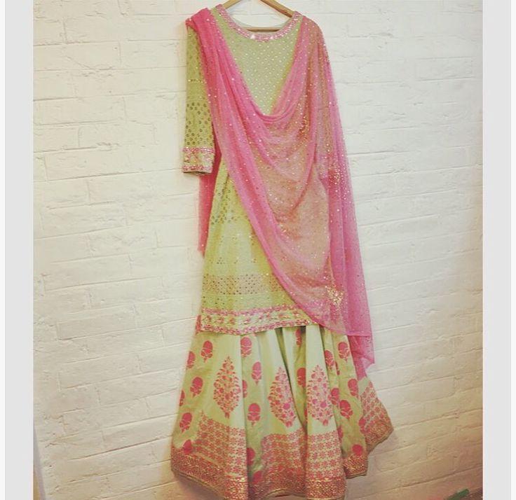 Abhi Mishra # love the colours # fusion wear # Indian fashion
