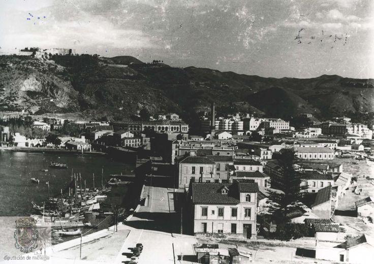 Imágenes en blanco y negro del Puerto y la zona de la Malagueta de Málaga, actual Paseo de la Farola datada en 1920. (Sig Es29072ADPM LC19-1-08)