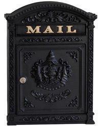 Ecco 6 Wall Mount Mailboxes Black