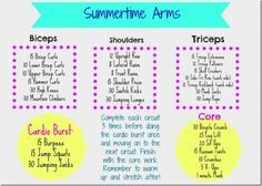 Summertime Arms Circuit Workout #FitfFluential #ArmCircuit
