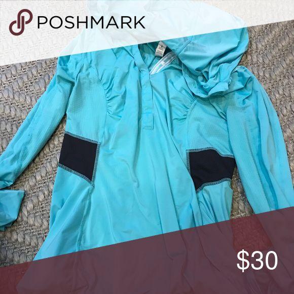 lululemon blue zip up hoodie size 4 Blue lululemon athletica Other