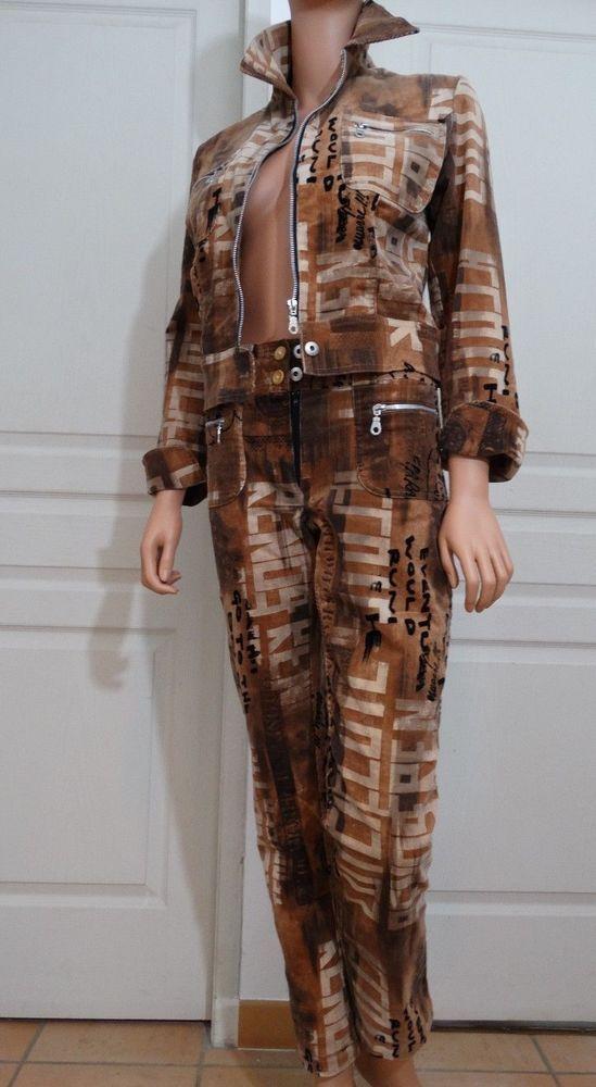 fff9812e9a5ac Ensemble neuf Pantalon et veste de la marque Carla kops Paris taille ...