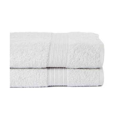 Winston Porter Peabody 2 Piece Bath Towel Set Color: Silver