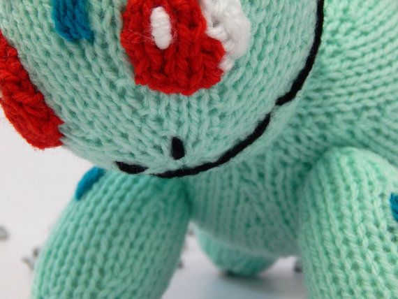 BULBASAUR POKEMON hand knitted Pokemon toy by MadeWithAltitude