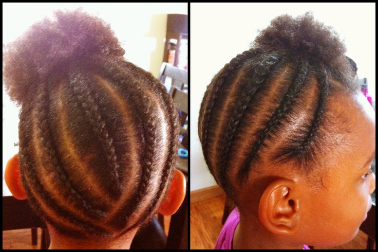 Little girls natural hairstyle