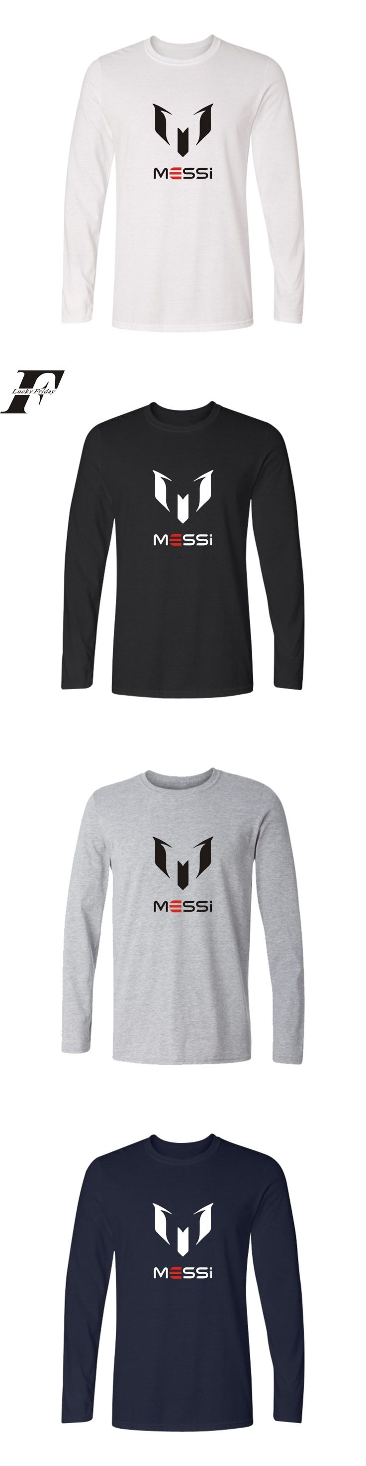 MESSI spring autumn funny brand cotton Barcelona Men t-shirt tops Man casual long sleeve t shirts Plus Size new fashion top