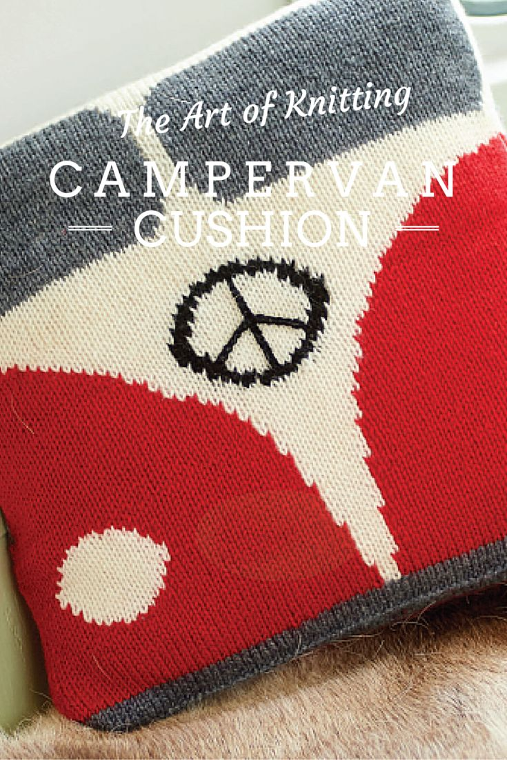 This far-out cushion features in Issue 50! Check out: http://artofknitting.co.uk/ #knit #knitting #artofknitting