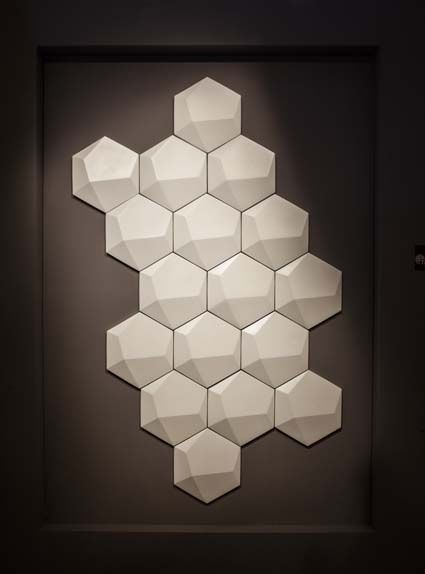 Dot-to-dot by Tagina. Bespoke ceramic modules for interior & exterior walls
