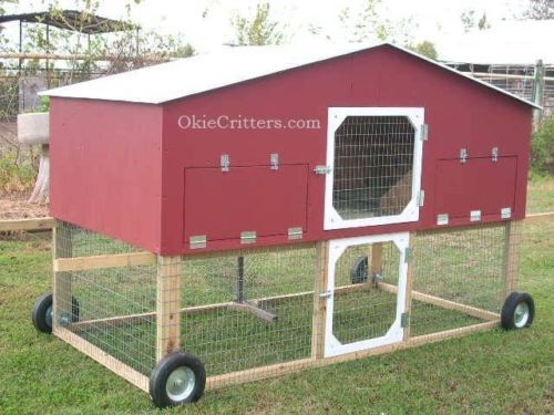 Deluxe Chicken Coops on wheels, I have raised chickens and built their coops for over 30 years. I know what it takes to do it right so they will be happy and you too. Prices start at $850, for, more i