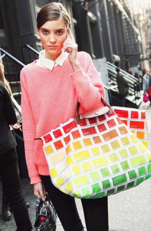 pimped Longchamp bagFashion, Keyboard Bags, News, Colors, Street Style, Vintage Bags, Longchamp, Accessories, Jeremy Scott