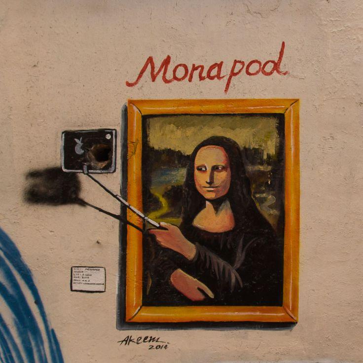 Strassenkunst in Johor Bahru #kunst #strassenkunst #graffiti #graffitikunst #reise #reisen #johorbahru #malaysia #monalisa #selfie #selfiestick