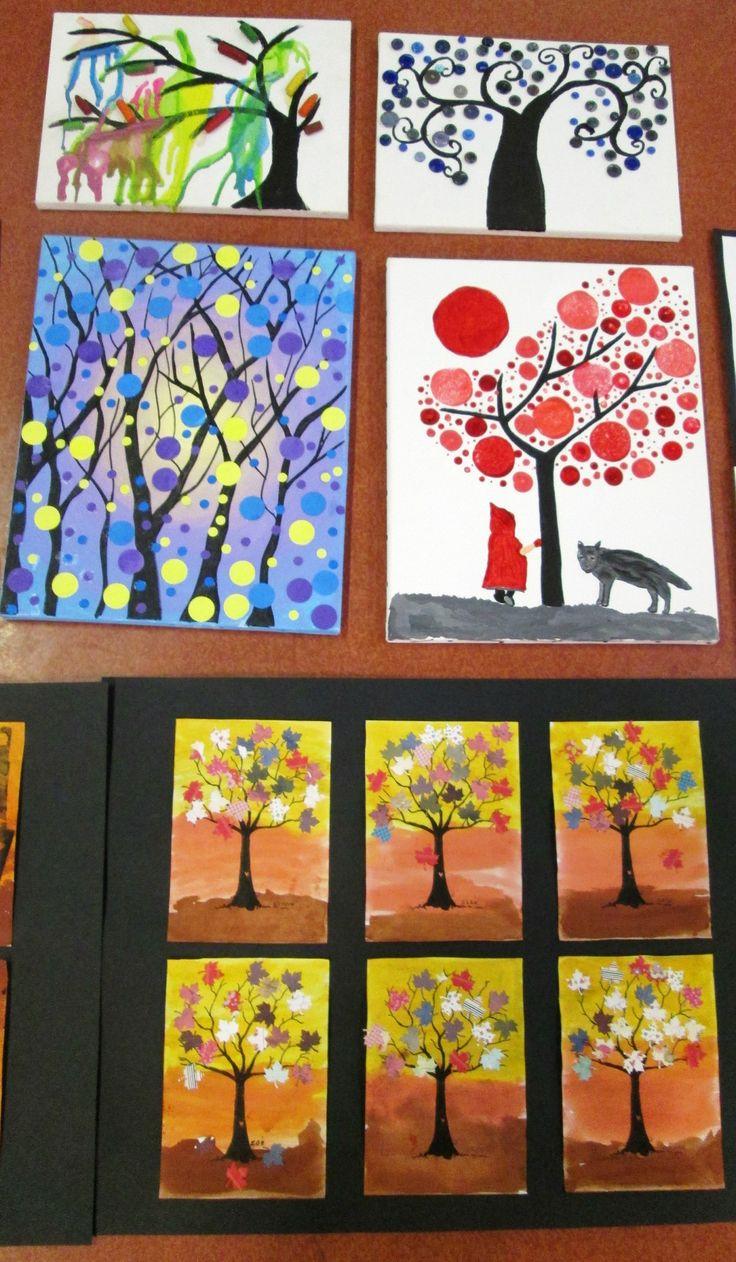 Les arbres en récup' - La maternelle de Vivi