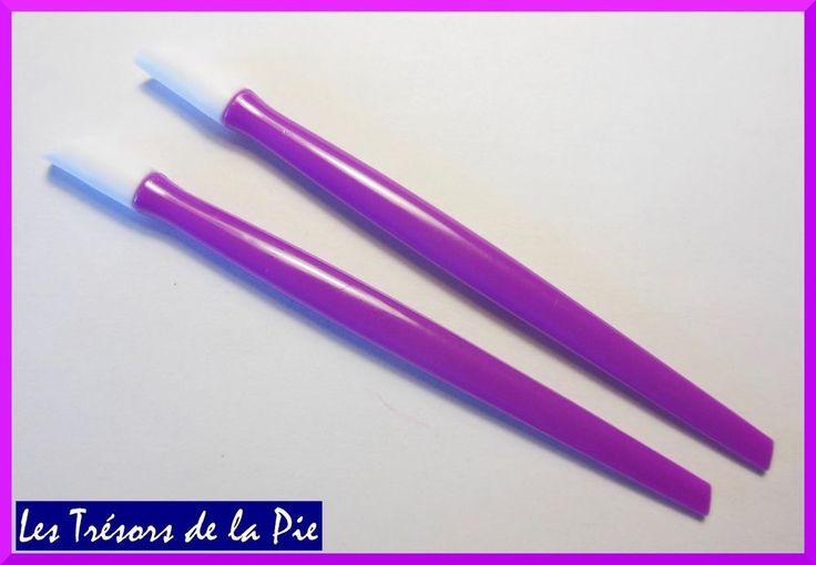 REPOUSSE CUTICULES (x2) - Outil nail art / manucure - 9,7cm - Violet