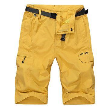 AFSJEEP Summer Mens Cargo Shorts Water-repellent Breathable Loose Casual Shorts at Banggood