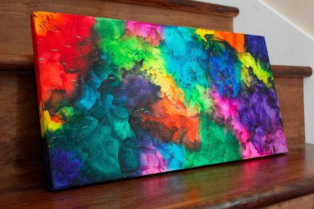 Color Splashing: Crayon Art #12 (melted crayons on canvas ...