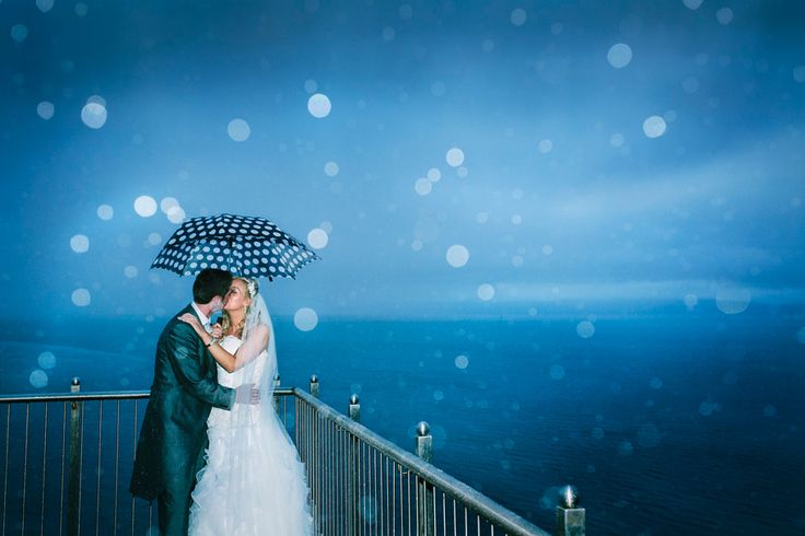 Laura and Vincent in the rain at Redcastle Donegal